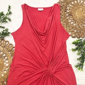 New York & Company Orange Stretch Dress